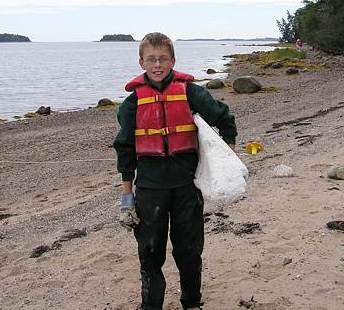 Andrews Island cleanup