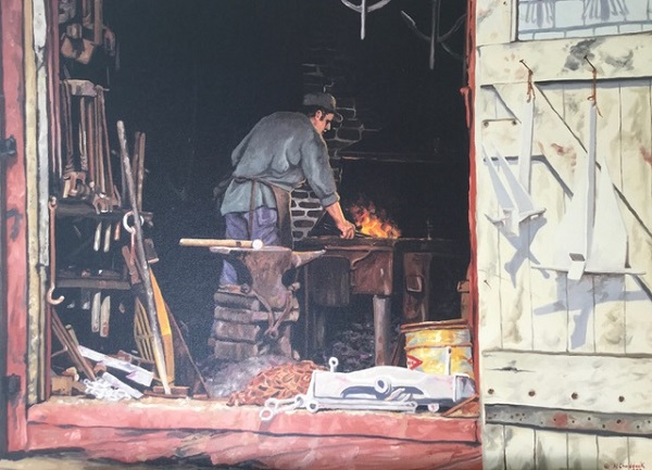 Marine Blacksmith, Lunenburg by AL CHADDOCK