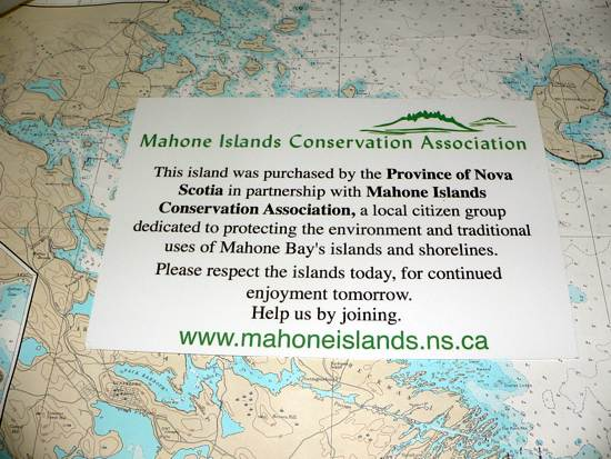 MICA island sign